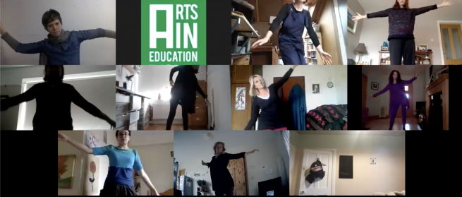 Creative Workshop 'Sensing to Action' with artist Kate Wilson as part of the 2020 National Arts in Education Portal Day Virtual Conference