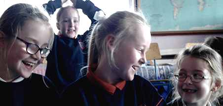 Children participating in 'Doctor Darkness' workshop