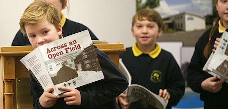 Launch of Across An Open Field, 1st Irish History book by children