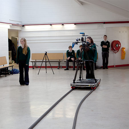 Transition years exploring video, staging a scene, creating movement with artist John Beattie