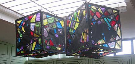 Cubes installed (c) Helen Barry