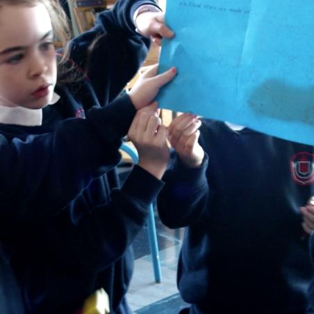 Children participating in a Doctor Darkness workshop