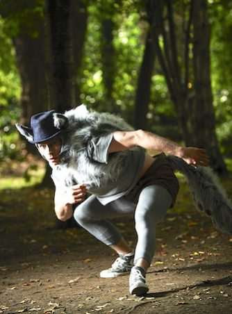 Mateusz Szczerek in CoisCéim's THE WOLF AND PETER by David Bolger - Photo by Ros Kavanagh