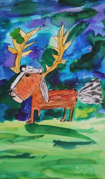 """""""Deerunk"""" by Emma Downey"""