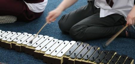 Practising a music score
