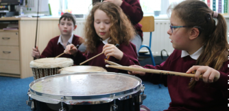2020 Portal Documentation Award Recipient - Teacher Artist Partnership (TAP) project The Lonely Traveller with teacher Jacintha Mullins and composer Fiona Linnane in collaboration with pupils at the Mid-West School for the Deaf, Limerick.