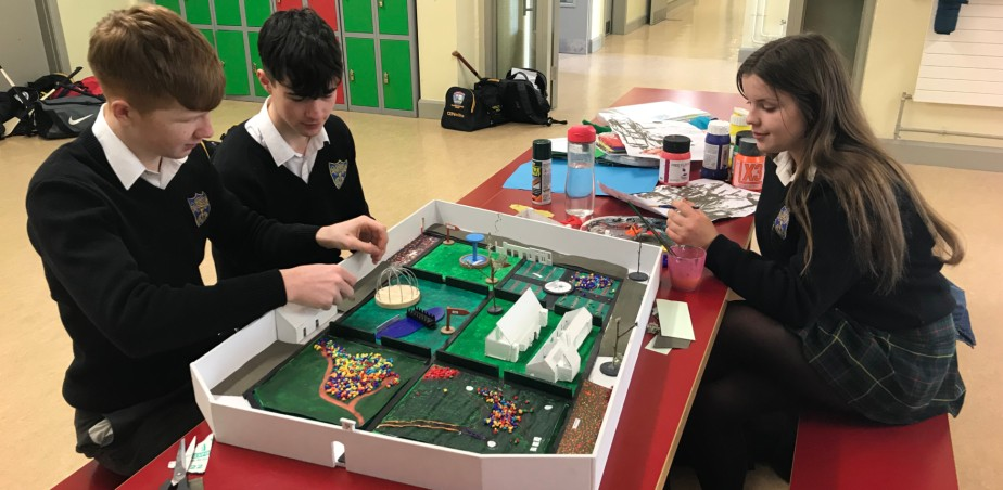 Image copyright: Colette Walsh - students working on their design for the Mountbellew Walled Garden