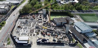 Aerial view of St Mary's Boys N.S. Maynooth