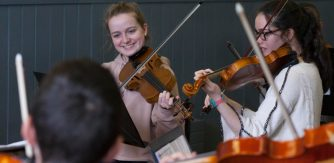 Young musicians pictured at Tuned In! 2019, hosted by Music Generation Sligo as part of the Sligo International Chamber Music Festival. Image: Brian Farrell.