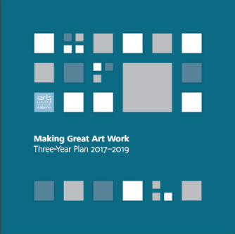 arts council 3 year plan cover