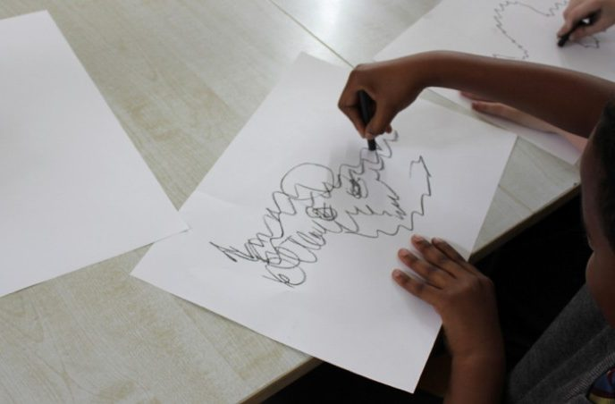 Project/Partnership: Creative Generations – O'Connell CBS P.S. with artist Maria McKinney
