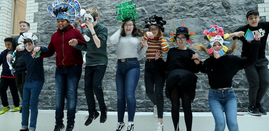 Image copyright Maxwell Photography, Students from Stepaside Educate Together Secondary School at the launch of Creative Schools in the National Gallery of Ireland.
