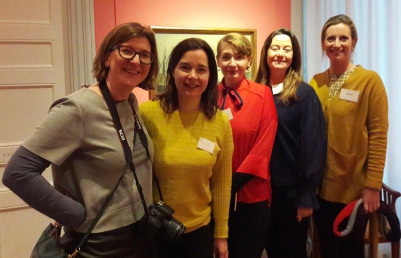Assistant Arts Officer Liz Coman, Teacher Anne Moylan, Education Curator Sile McNulty , Teacher Jane Malone and Artist Kathryn Maguire in the David Museum, Copenhagen