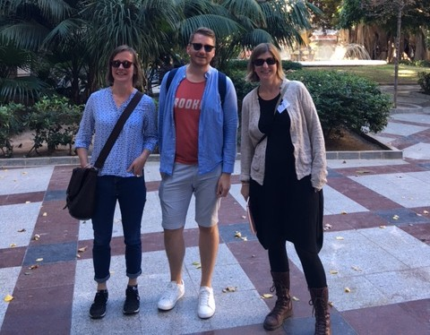 Artist Claire Halpin, Art Teacher Kieran Gallagher & Liz Coman at the MACA Contemporary Art Museum Alicante